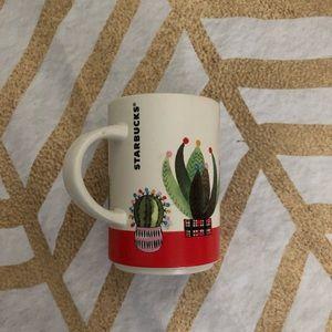 Starbucks Christmas holiday cactus mug